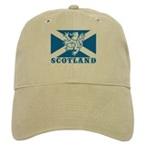 Flag of Scotland with Lion Baseball Cap