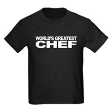 World's Greatest Chef Kids Dark T-Shirt