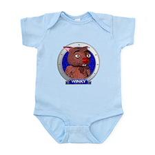 Winky's Blue Portrait Infant Bodysuit