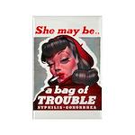 No Bad Evil Women Rectangle Magnet (10 pack)