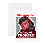 No Bad Evil Women Greeting Cards (Pk of 10)