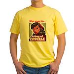 No Bad Evil Women Yellow T-Shirt