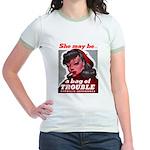 No Bad Evil Women (Front) Jr. Ringer T-Shirt