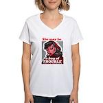 No Bad Evil Women Women's V-Neck T-Shirt