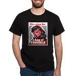 No Bad Evil Women (Front) Dark T-Shirt