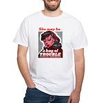 No Bad Evil Women White T-Shirt