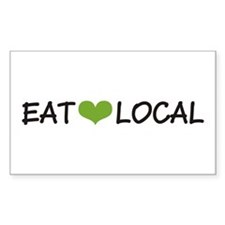 Eat Local Rectangle Decal