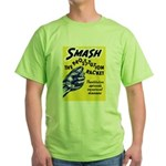 Stop Prostitution Green T-Shirt