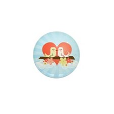 Love Birds Blue - Mini Button (100 pack)