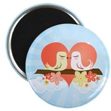 Love Birds Blue - Magnet