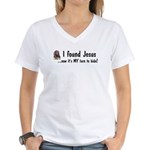 Found Jesus Women's V-Neck T-Shirt