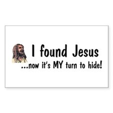 Found Jesus Rectangle Decal