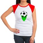ALIEN SOCCER HEAD Women's Cap Sleeve T-Shirt