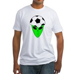 ALIEN SOCCER HEAD Fitted T-Shirt