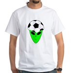 ALIEN SOCCER HEAD White T-Shirt