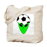 ALIEN SOCCER HEAD Tote Bag