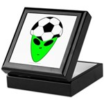 ALIEN SOCCER HEAD Keepsake Box
