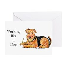 Working Airedale Greeting Cards (Pk of 20)
