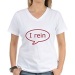Reiner Stuff - I rein in red Women's V-Neck T-Shir
