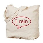 Reiner Stuff - I rein in red Tote Bag