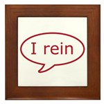 Reiner Stuff - I rein in red Framed Tile