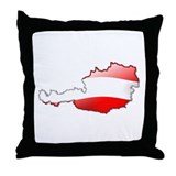 &quot;Austria Bubble Map&quot; Throw Pillow