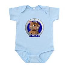 Fraz's Blue Portrait Infant Bodysuit