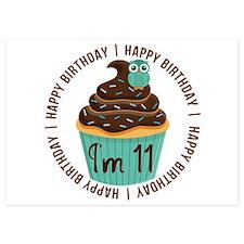 11th Birthday Cupcake Invitations