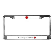 Templar License Plate Frame