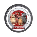 Wombies' Red Group Portrait Wall Clock