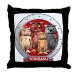 Wombies' Red Group Portrait Throw Pillow