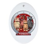 Wombies' Red Group Portrait Oval Ornament