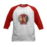Wombies' Red Group Portrait Kids Baseball Jersey