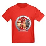 Wombies' Red Group Portrait Kids Dark T-Shirt