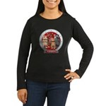 Wombies' Red Group Portrait Womens Long Sleeve Tee