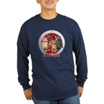 Wombies' Red Group Portrait Long Sleeve Dark T-Shi