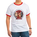 Wombies' Red Group Portrait Ringer T