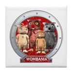 Wombies' Red Group Portrait Tile Coaster