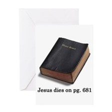 Jesus Dies Greeting Card