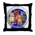 Wombies' Blue Group Portrait Throw Pillow