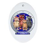 Wombies' Blue Group Portrait Oval Ornament