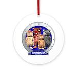 Wombies' Blue Group Portrait Ornament (Round)