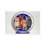 Wombies' Blue Group Portrait Rectangle Magnet (100