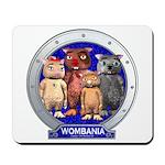 Wombies' Blue Group Portrait Mousepad