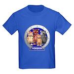 Wombies' Blue Group Portrait Kids Dark T-Shirt