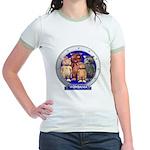 Wombies' Blue Group Portrait Jr. Ringer T-Shirt