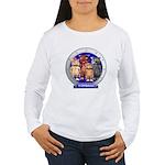 Wombies' Blue Group Portrait Women's Long Sleeve T