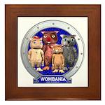 Wombies' Blue Group Portrait Framed Tile