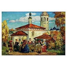 Kustodiev, In Old Suzdal