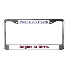 Peace With Birth License Plate Frame